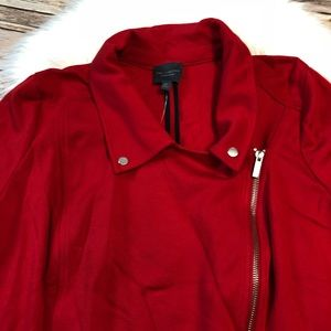 f47b2f88145 The Limited Jackets   Coats - THE LIMITED Plus Size Red Moto Jacket Bell  Sleeves